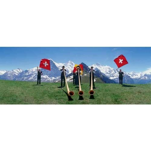 Swiss Flag Wavers 1000 Piece