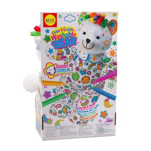 Color and Cuddle Washable Bear – Alex Toys