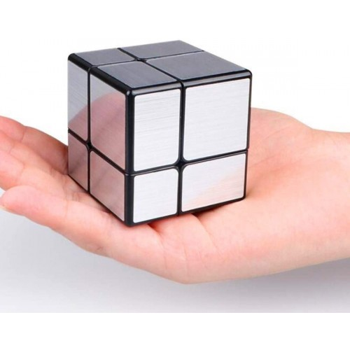 Cuberspeed 2×2 Mirror Black Body With Silver Magic Cube Blocks 2x2x2 Speed