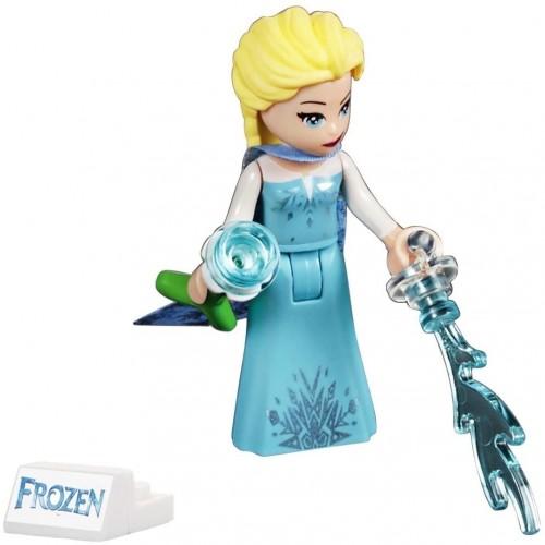 Lego Disney Princess Frozen 2 Minifigure Elsa With Snow Pattern Cape And