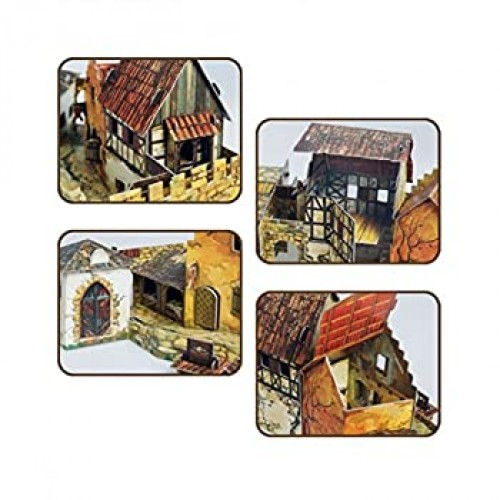 Umbum Innovative 3D Puzzle Medieval Town Series Squaremarket By Clever Paper 375 56
