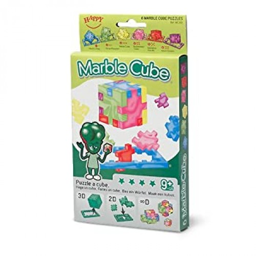 Happy Marble Cube Set Of 6 Foam Puzzle Cubes Ages 9 To
