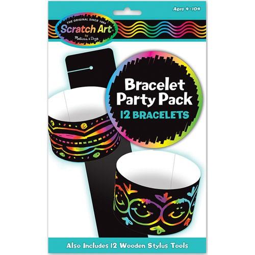 Scratch Art Bracelet 12 pc Party Craft Set