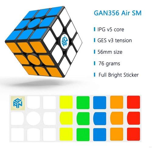 Gan 356 Air Sm 3×3 Magnetic Speed Cube Gans Magic 3x3x3 Puzzle Toy Ver