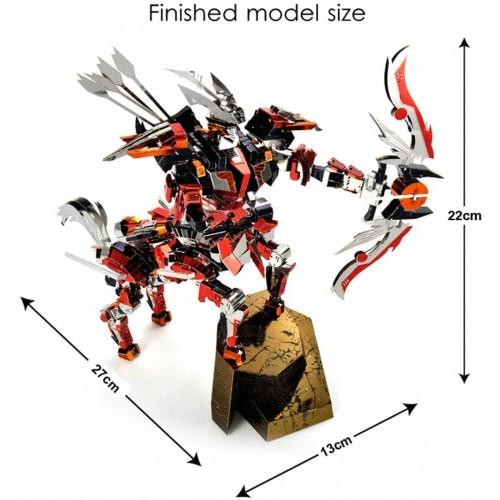 3D Metal Puzzle Challenging Model Building Kit Half Man Horse Knight Warrior Diy Laser Cut