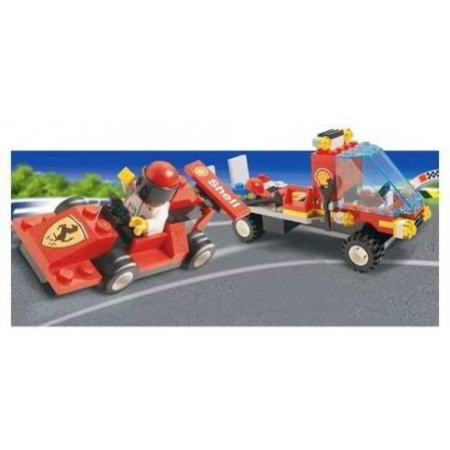 Lego System Set 1253 Shell Car Transporter With Ferrari Race