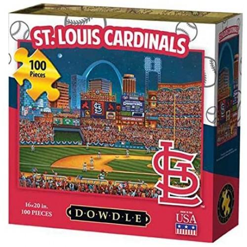 Dowdle Folk Art St Louis Cardinals Jigsaw Puzzle 100