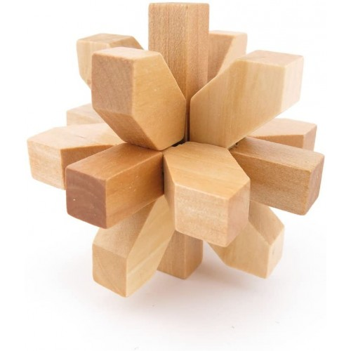 1x Wisdom Logic Mind Challenge Brainteaser Scientific Iq Puzzle Toys Disentanglement Game Wy2233