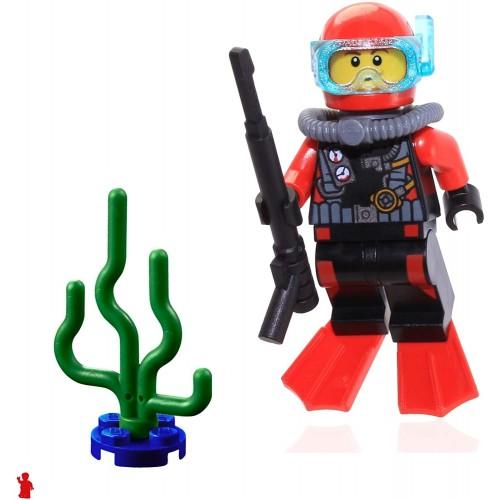 Lego City Deep Sea Scuba Diver Minifigure