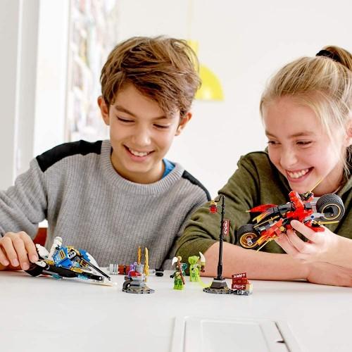 Lego Ninjago Legacy Kais Blade Cycle Zanes Snowmobile 70667 Building Kit 376