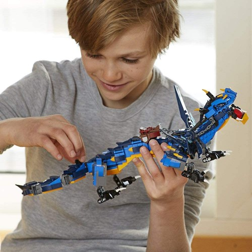 Lego Ninjago Masters Of Spinjitzu Stormbringer 70652 Ninja Toy Building Kit With Blue Dragon Model