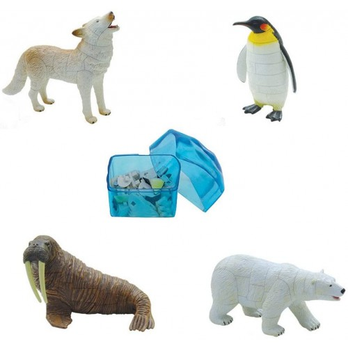 Assorted 4Pcsset Of Ukenn 3D Polar Life Animal Puzzles Diy Arctic Wolf Penguin Walrus Bear