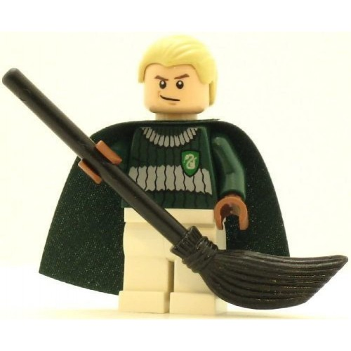 Lego Harry Potter Minifig Draco Malfoy Dark Green And White Quidditch