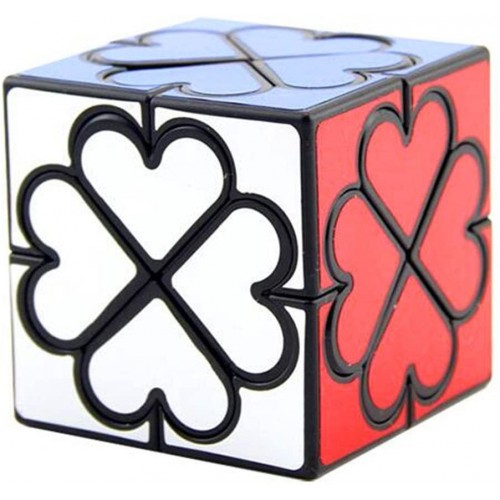 Cuberspeed Lanlan Honey Copter Black Speed Cube 4 Leaf Clover Heart Magic