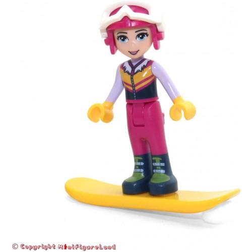 Lego Friends Minifigure Stephanie W Snowboard Helmet Ski Pants