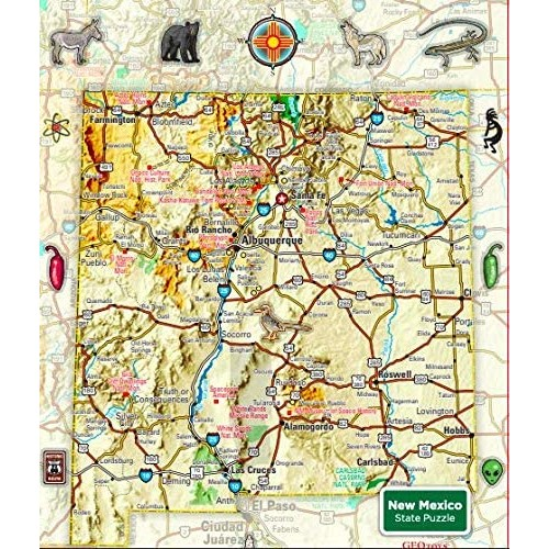 New Mexico 100 Pc Magnetic Puzzle By