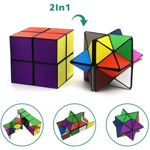 Euclidean Cube Star Magic Set 2 Piece Transforming Cubes Puzzle