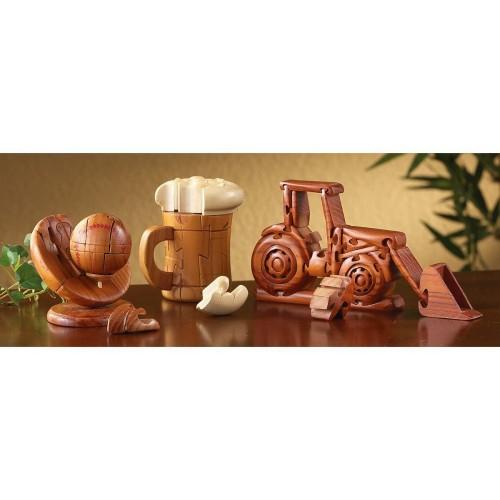 Chh Beer Mug Wood 3D Brain Teasers