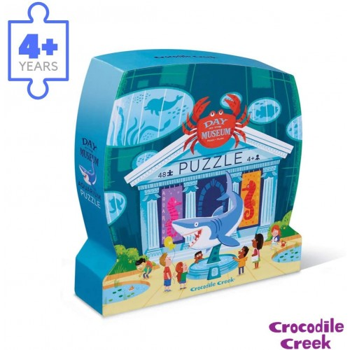 Crocodile Creek Day At Aquariumpiece Jigsaw Floor Puzzle 48 Bluegreenorangeredpink 18 x
