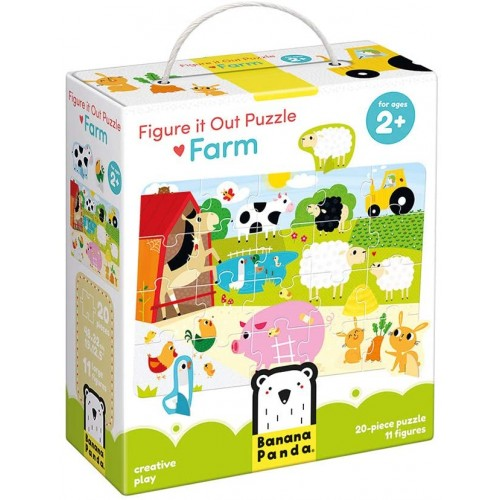 Banana Panda Figure It Out Puzzle Farm Beginner With Animal Figures Ages 2 Years