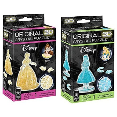 Bepuzzled Original Alice And Belle 3D Crystal Puzzle Bundle Set Of Two