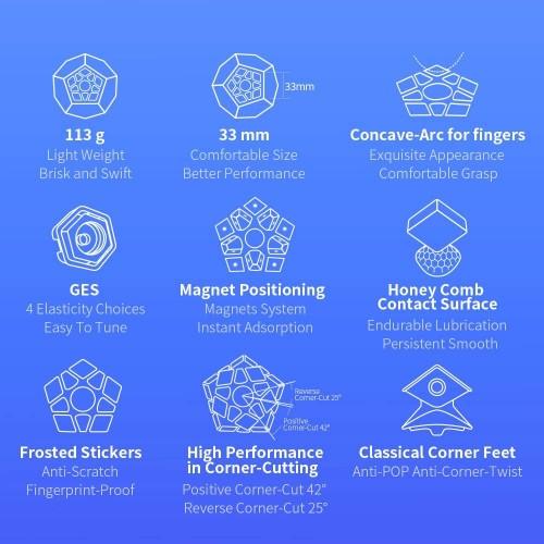 Gan Megaminx M Pentagonal Magnetic Speed Cube