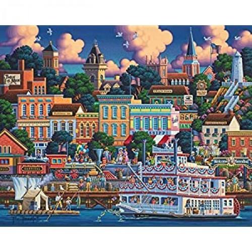 Dowdle Jigsaw Puzzle Mark Twains Hannibal 500