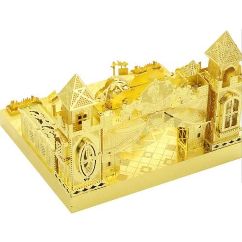 Mu Amusement Park Fantastic Castle 3D Metal Puzzle Assemble Model Kits Diy Laser Cut Jigsaw Toy