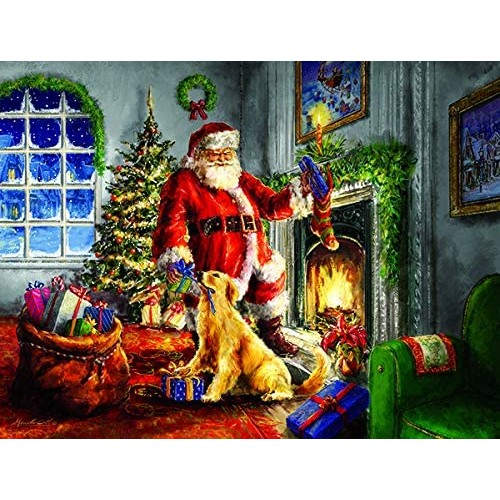 Helping Santa 300 Pc Jigsaw Puzzle By