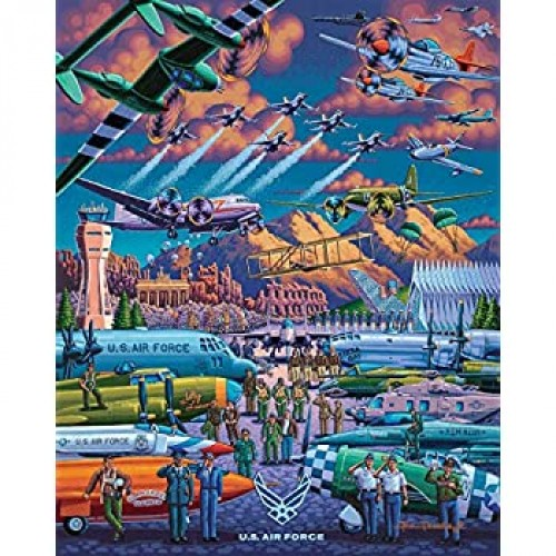 Dowdle Jigsaw Puzzle Us Air Force 500