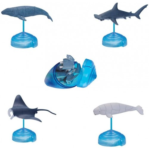 Assorted 4Pcsset Of 3D Marine Animal Puzzles Blocks Playsets Sea Toys For Collection