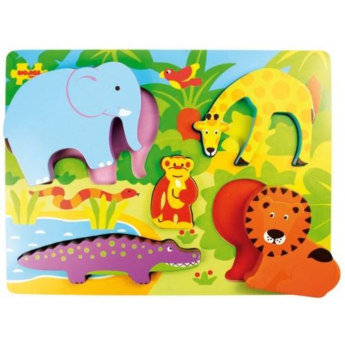 Bigjigs Toys Bj327 Chunky Lift Out Safari