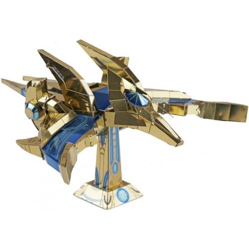 Mu 3D Metal Puzzle Sc2 Protoss Phoenix Aircraft Model Kits Ymn031 Diy Laser Cut Assemble Jigsaw