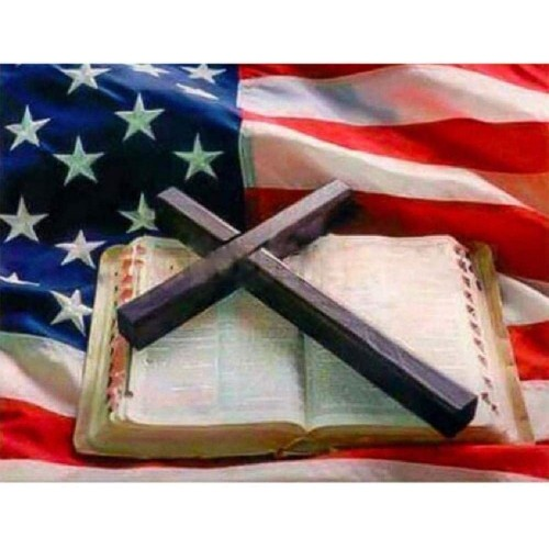 Wooden Jigsaw Puzzle 1000 Pcs American Flag And Bible Large Size Pieces Of PuzzleUnique