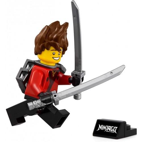 Lego Ninjago Movie Kai Minifigure With Spiked Hair And Display Stand