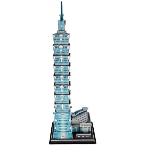 Runsong Creative 3D Puzzle Paper Model Taipei 101 Diy Fun Educational Toys World Great Architecture