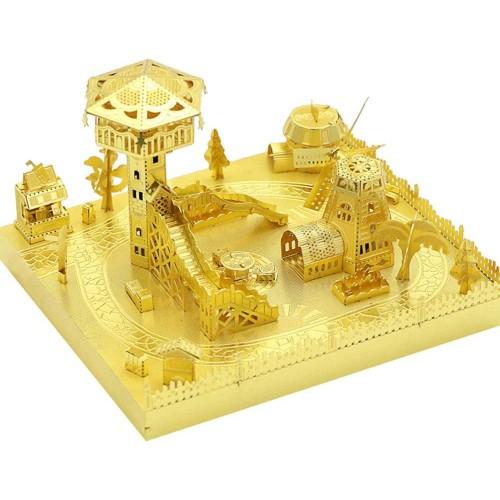 Mu Amusement Park Skydeck 3D Metal Puzzle Assemble Model Kits Diy Laser Cut Jigsaw Toy