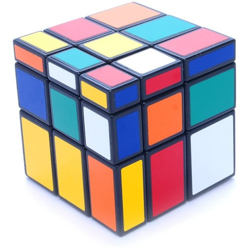 Cuberus 3x3x3 Black Two Solution Horror Mirror Bump Cube Twisty Puzzle