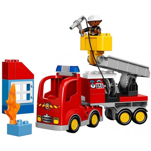 Lego Duplo Town Fire Truck 10592 Buildable Toy For