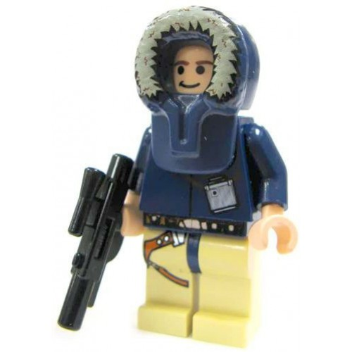 Han Solo Hoth Lego Star Wars Mini Figure With Short Blaster And Fur