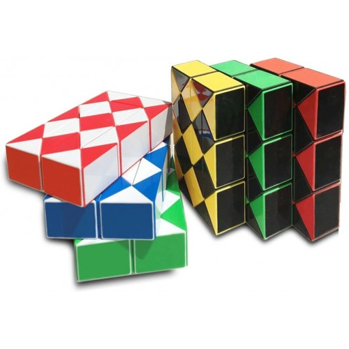 Yescube 6Piece Magic Snake Puzzle Twisty Cube Toy