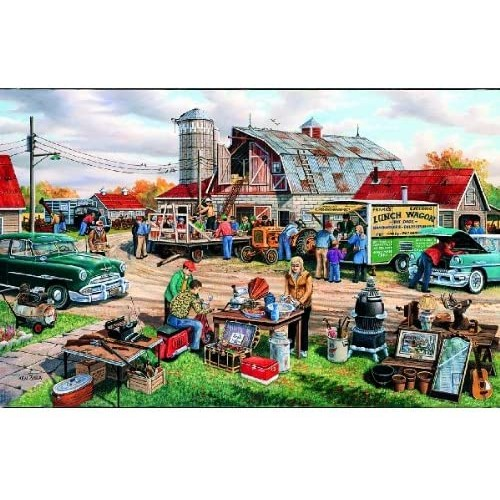 Sunsout Inc Country Auction 1000 Pc Jigsaw