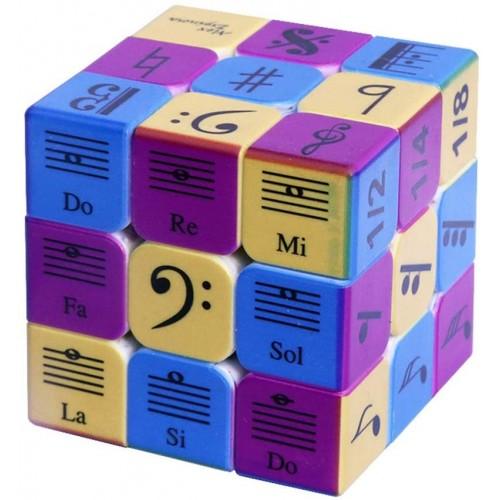 Speed Cube 3x3x3 Music Notes Design Magic PuzzleIq Games Puzzles Relief Effec Gift