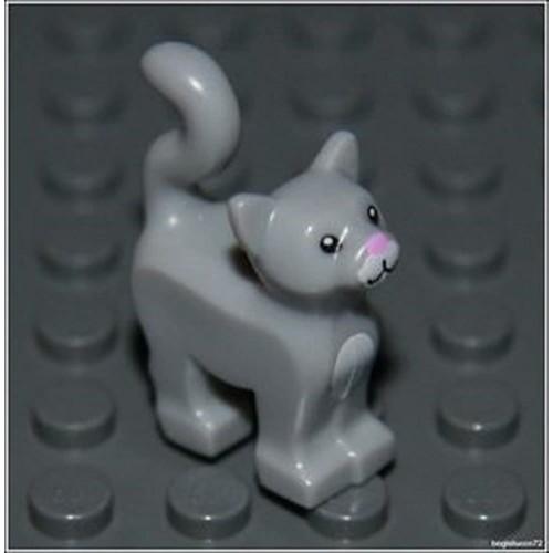 Lego Harry Potter x1 Light Gray Cat City Kitten Animal Girl Boy Minifigure