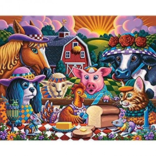 Dowdle Jigsaw Puzzle Little Red Hen 100