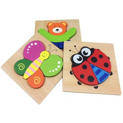 Letsgood Colorful Wooden Jigsaw Puzzles Toy For Baby Toddlers Early Educational Toys Gift