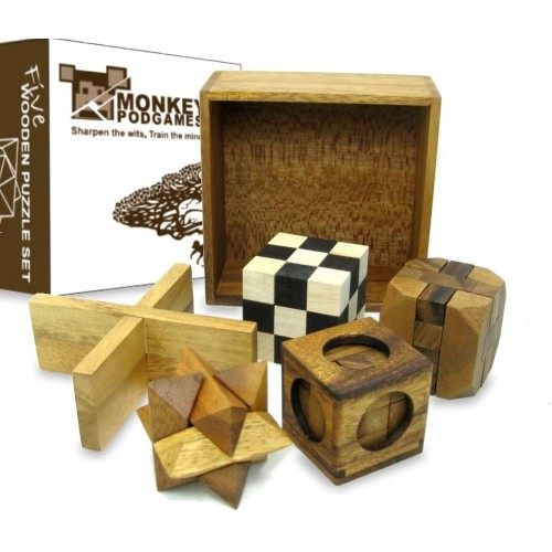 Five Puzzles In A Tricky Box Gift Set 5 Great To