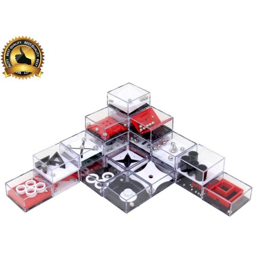 Wekity Party Favors Brain Game 24Pcs Maze Puzzle Box 3D Threedimensional Ball Funny And Cool