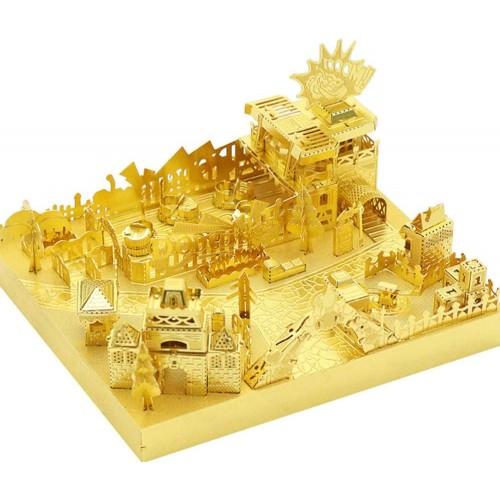 Mu Amusement Park Bumper Car 3D Metal Puzzle Assemble Model Kits Diy Laser Cut Jigsaw Toy