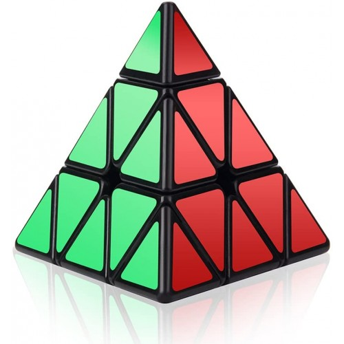 Roxenda Speed Cube 3x3x3 Pyramid Triangle Puzzle Magic Enhanced Edition Turns